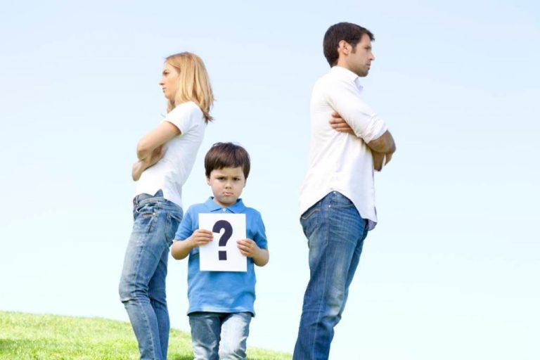 отношения мужа и жены и ребенка-после развода все